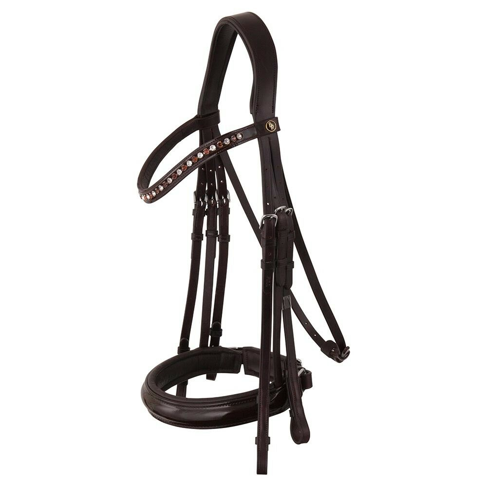 Curb Bridle BR Wendover Patent Leather reflected No Geb. SW. StB. b