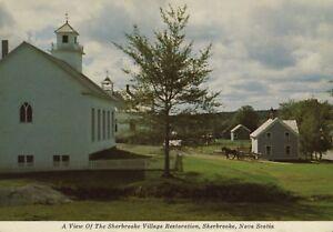 View-Of-The-Sherbrooke-Village-Restoration-Sherbrooke-Nova-Scotia-NS-Postcard-D9