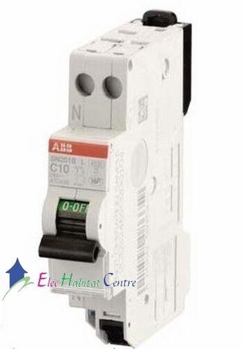 Disjoncteur unipolaire+neutre 10A automatique SN201SL ABB 470436