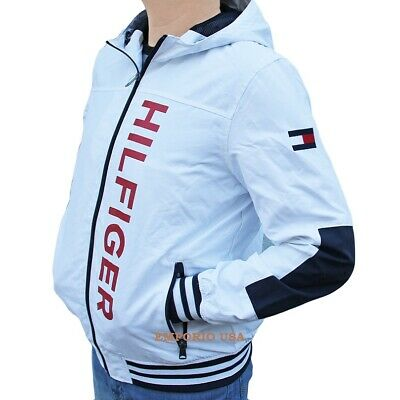 TOMMY HILFIGER Men's Yacht Jacket Water Stop Windbreaker Hood NWT | eBay