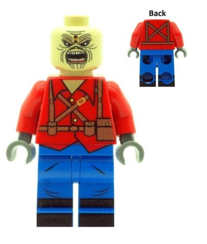 Mascot Printed On LEGO Parts Iron Maiden Custom Designed Eddie The Trooper