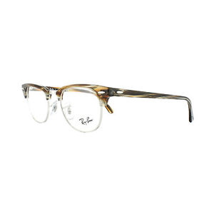 Ray-Ban-Glasses-Frames-5154-Clubmaster-5749-Brown-Grey-Striped-49mm-Mens-Womens