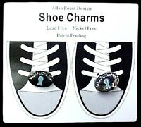 Ovarian Cancer Teal Ribbon Walk For The Cure Shoe Charms Lace Ornaments