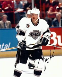 Jari-Kurri-Autographed-Signed-8X10-Photo-Los-Angeles-Kings-1991-92-75Th-Patch