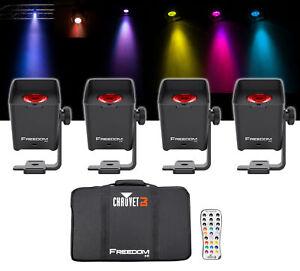 Chauvet-DJ-liberte-H1-X4-4-sans-fil-RGBAW-UV-Wash-Lumieres-Sac-Chargeur-Telecommande