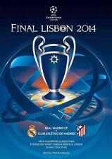 2014 UEFA Champions League Final Official PROGRAMME Football Real Madrid Program