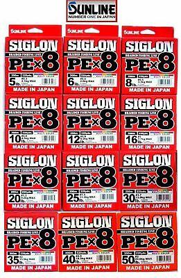2042 Sunline Siglon Braided Linie X8 150M P.E 2 35LB Multi Color
