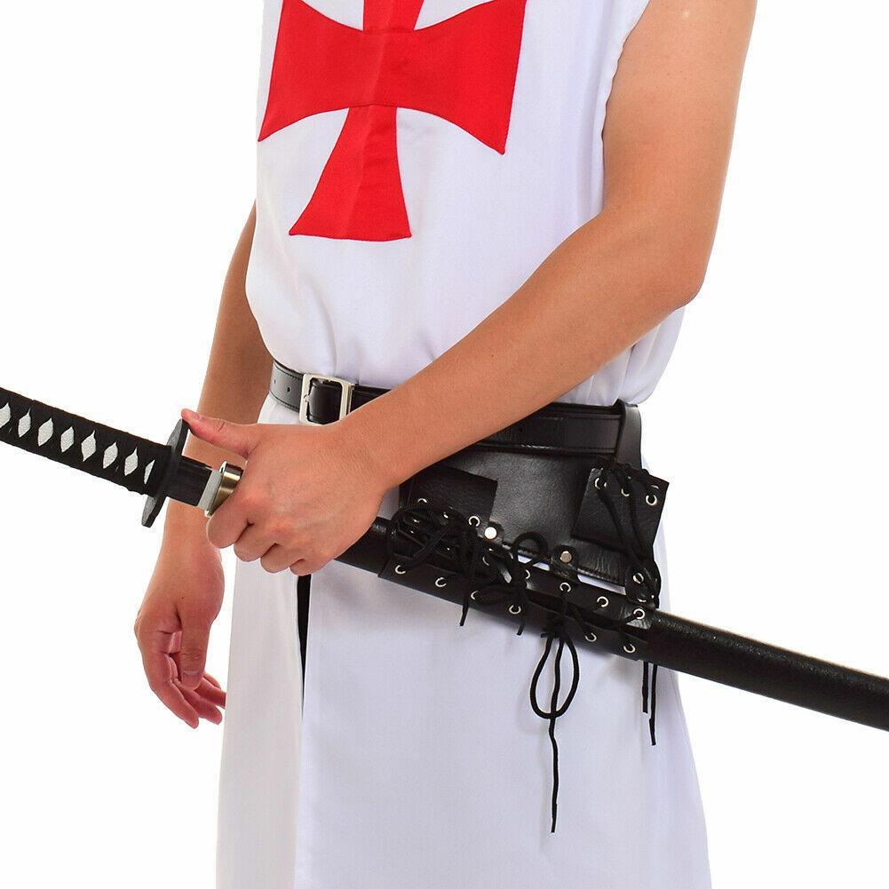 Medieval Costume Lace Up Sword Frog Holster With Belt Rapier Scabbard Holder