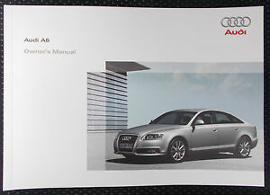 genuine audi a6 c6 owners manual handbook 09 2008 edition ebay rh ebay ie 2008 audi a6 quattro owners manual 2008 audi a6 owners manual