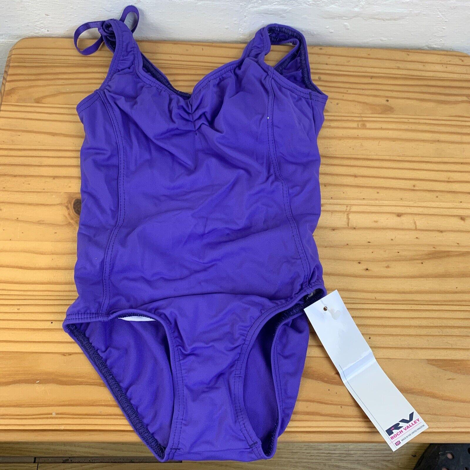 Roch Valley Girls Purple Leotard Size 2