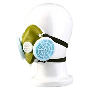 Dual-Respirator-Gas-Mask-Anti-Dust-Twin-Chemical-Spray-Paint-Safety-Headwear-zf