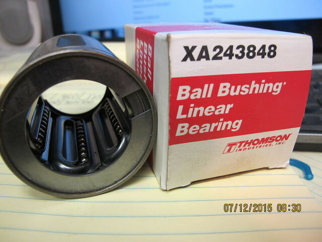 "1.5/"" Closed Round Rail Ball Bushing XA243848 Thomson - Leaner Bearing Extra"