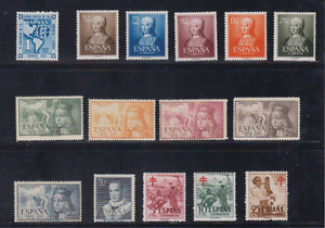 ESPANA-ANO-1951-MNH-NUEVO-SIN-FIJASELLOS-EDIFIL-1091-1105-SIN-1088-90