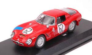 Alfa Romeo Tz2 # 62 À la retraite 12 H, Sebring 1966 Bianchi / Consten 1:43 Modèle