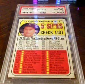 1969-Topps-412-Mickey-Mantle-Checklist-5-Yankees-PSA-8-NM-MT