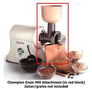 CHAMPION-Juicer-GRAIN-MILL-ATTACHMENT-Grinder-Grinding-JUICER-SOLD-SEPARATELY