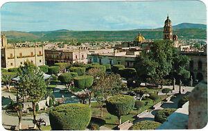 Mejico-TARJETA-POSTAL-the-garden-of-the-Manual-plaza-en-MORELIA