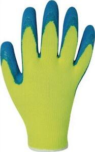 12 Paar In Vielen Stilen Handschuh En 388 Kat.ii Harrer Gr.9 Latex Schrumpfgeraut Blau Baugewerbe