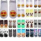 3D Printed Animal Casual Socks Cute Cat Unisex Low Cut Women Cotton Ankle Socks