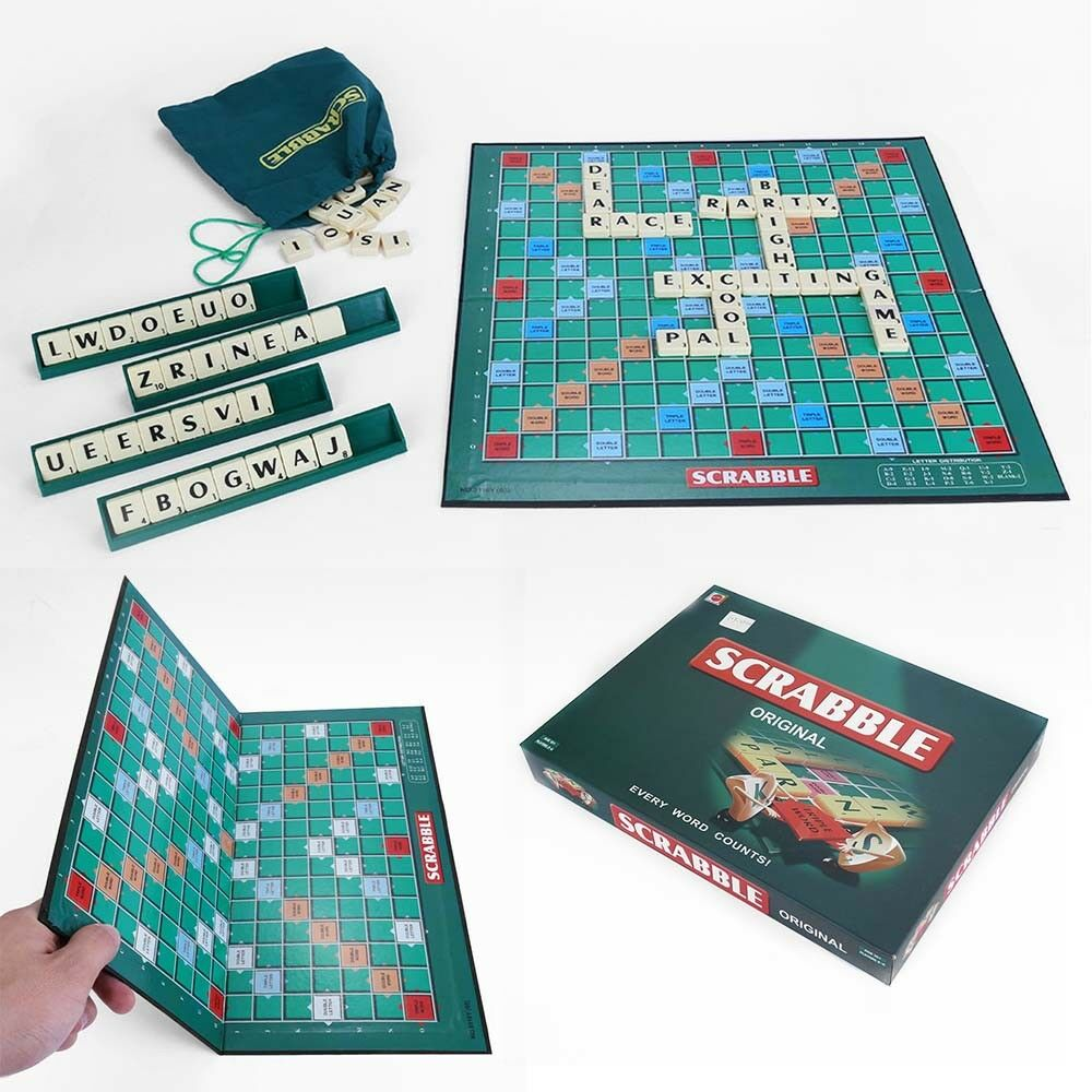 New Original Scrabble Board Game Family Kids Adults Educational Toys Puzzle Game 2