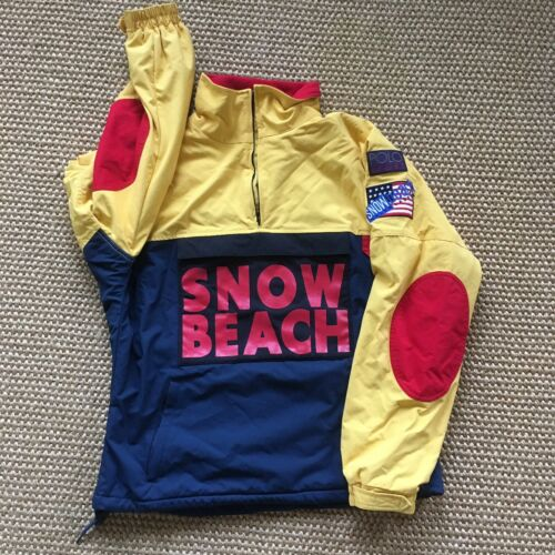 Polo Snow Beach Pullover M Medium Retro