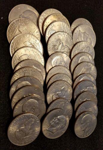 EISENHOWER DOLLAR COIN 30 COINS PER LOT ◇ MIXED Dates Cir IKE DOLLAR HOARD