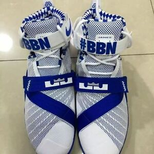 huge discount e93fe cecf3 Image is loading Nike-Lebron-Soldier-9-IX-Premium-BBN-Kentucky-