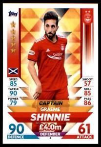 Match Attax SPFL 2018//19 Graeme Shinnie Aberdeen no 4
