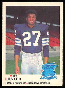 1970-OPC-O-PEE-CHEE-CFL-FOOTBALL-3-MARV-LUSTER-EX-NM-TORONTO-ARGONAUTS-UCLA