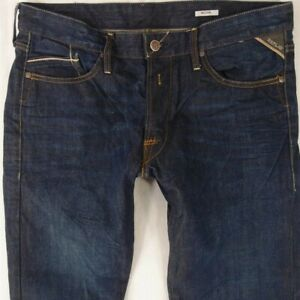 Mens-Replay-M983-WAITOM-Regular-Slim-Blue-Jeans-W34-L32