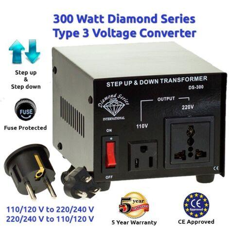 Diamond Series 300 watts Step Up//Down voltage converter transformer