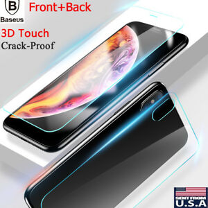 Apple iPhone XS Max XR Front and Back 9H Tempered Glass Screen Protector Film