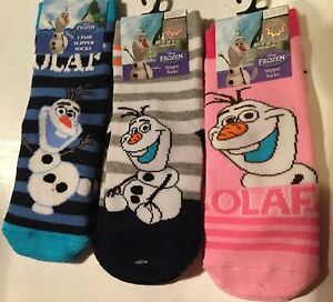 Disney Frozen Rose Chaussons Chaussettes Bnwt Taille 12-2.5