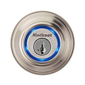 Kwikset Kevo 925mm Satin Nickle Bluetooth Enabled Deadbolt - 925KEVODB15