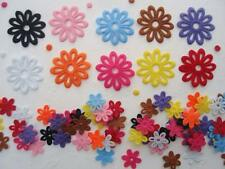 150 Big+Small Felt Flower Applique 10 Colors Mix/Craft/Scrapbooking/Die Cut H6