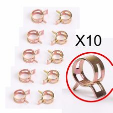 """10 PCS 3/8"""" inch Spring Band Clip Fuel Silicone Vacuum Hose Clamp 10mm"""