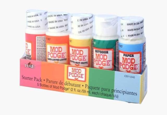 Mod Podge Decoupage Adhesive Glue Sealer Matte Gloss Finish Hard Coat