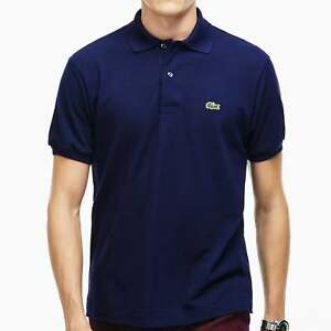 c24d222ecb Lacoste Men's Cotton Polo Shirt Pique' L12.12, Marine Blue | eBay