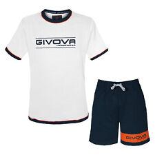 Completo Homewear Uomo GIVOVA Mezza Manica Cotone 5 Modelli