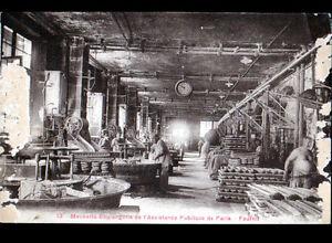 PARIS-IV-Ouvriers-a-la-MEUNERIE-BOULANGERIE-de-l-039-ASSISTANCE-PUBLIQUE-en-1926