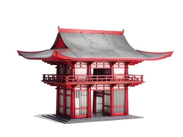 PROVA of ONORE Temple Gateway 28mm Warlord Games SAMURAI GIAPPONE costruzione