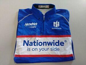 Dale-Earnhardt-Jr-Signed-Autographed-Darlington-Throwback-Race-Used-Crew-Shirt