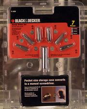 Black & Decker 7 Piece Pocket Sized Screw Driver Set