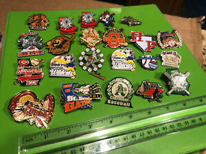 Vintage-Metal-Enamel-Pin-Lot-Pinback-Pins-Baseball