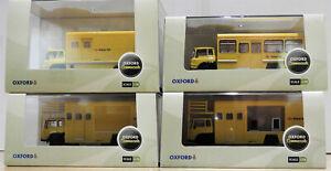 Oxford Diecast 1:76 76tk011 76tk012 76tk013 76tk014 British Rail Set jaune Bnib