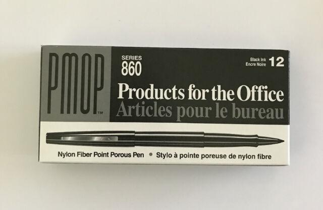 PAPERMATE - 863-11 - PMOP 860 BLACK NYLON FIBER POINT POROUS PEN - 1 DOZEN