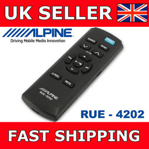Alpine-RUE-4202-Remote-For-All-Alpine-Remote-Ready-Car-Stereos-With-Batteries