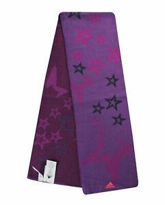 Adidas Girls Youths Juniors Purple Scarf Accessories G74315 A94B