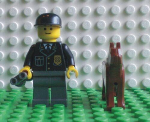 NUOVO LEGO MINI personaggio Poliziotto con cane e binocolo 9247-2 700