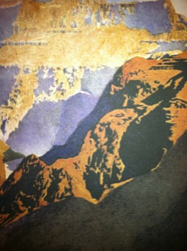 Maxfield Parrish The Grand Canyon 22x30 Hand Numbered Edition Art Deco Print